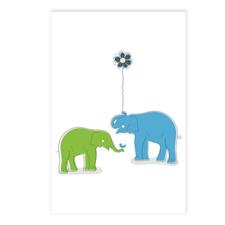 Whimsy Elephants Postcards (Package of 8)