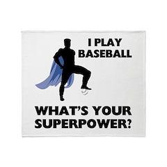 Baseball Superhero Throw Blanket