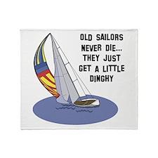 Old Sailors Never Die Throw Blanket