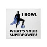 Bowling Superhero Throw Blanket