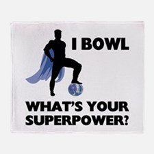 Bowling Superhero Throw Blanket