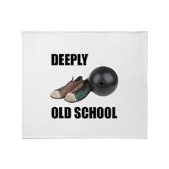 Deeply Old School Throw Blanket