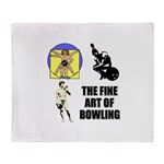 Fine Art of Bowling Throw Blanket