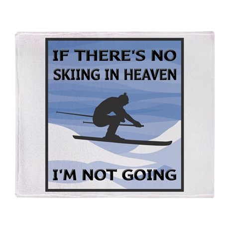 Skiing In Heaven Throw Blanket