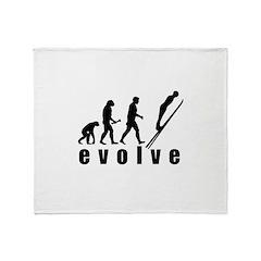 Evolve Skiing Jump Throw Blanket