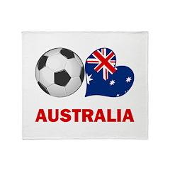 Australia Soccer Fan Throw Blanket