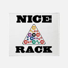 Pool Nice Rack Throw Blanket