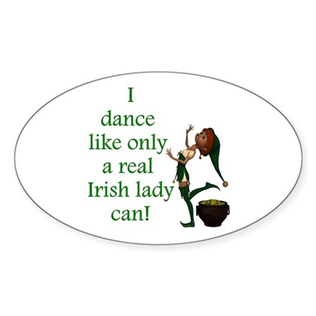 Irish Lady Sticker (Oval 10 pk)
