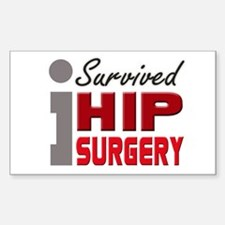 Hip Surgery Survivor Decal