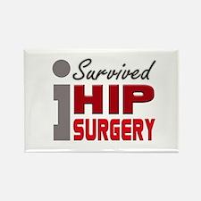 Hip Surgery Survivor Rectangle Magnet