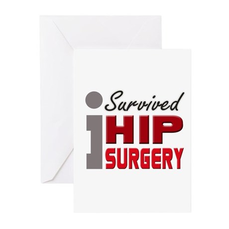 Hip Surgery Survivor Greeting Cards (Pk of 10)