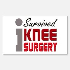 I Survived Knee Surgery Sticker (Rectangle)