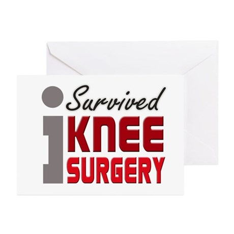 I Survived Knee Surgery Greeting Cards (Pk of 10)