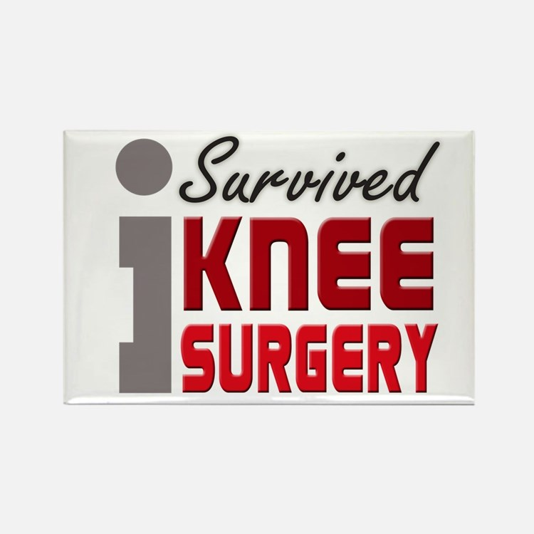 I Survived Knee Surgery Rectangle Magnet