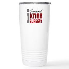 I Survived Knee Surgery Thermos Mug