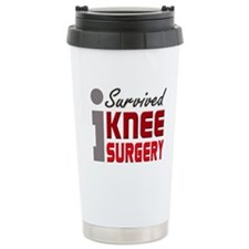 I Survived Knee Surgery Travel Mug