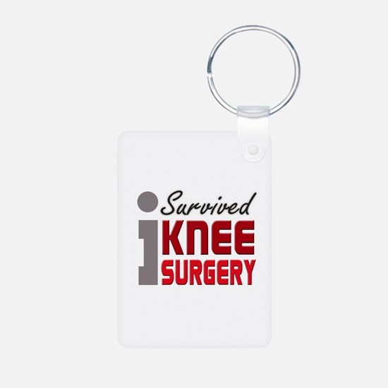 I Survived Knee Surgery Keychains