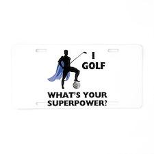 Golf Superhero Aluminum License Plate