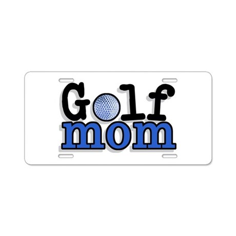 Golf Mom Aluminum License Plate