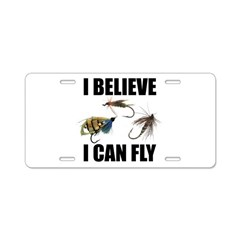 I Believe I Can Fly Aluminum License Plate