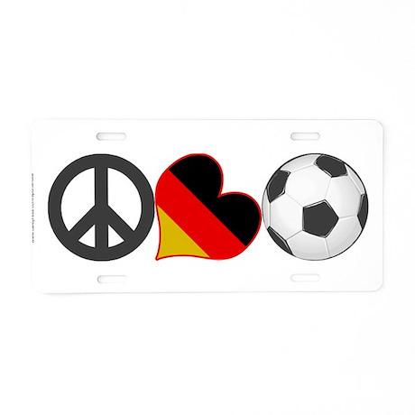German Soccer Fan Aluminum License Plate