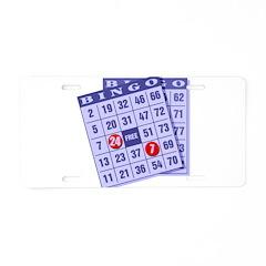 Bingo 24/7 Aluminum License Plate