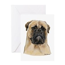 Fawn Bullmastiff Head Greeting Card