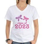 2023 Girls Graduation Women's V-Neck T-Shirt
