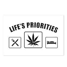 Lifes Priorities Eat Sleep Smoke Postcards (Packag