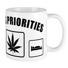 Lifes Priorities Eat Sleep Smoke Mug