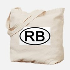 RB - Initial Oval Tote Bag
