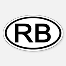 RB - Initial Oval Oval Decal