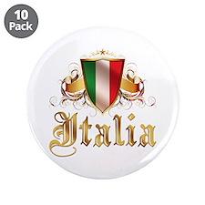 """italian pride 3.5"""" Button (10 pack)"""