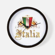 italian pride Wall Clock