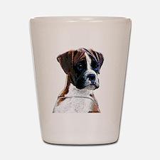 Brindle Boxer Puppy Shot Glass