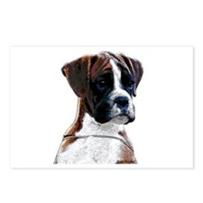 Brindle Boxer Puppy Postcards (Package of 8)