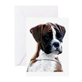 Brindle boxer Greeting Cards (10 Pack)
