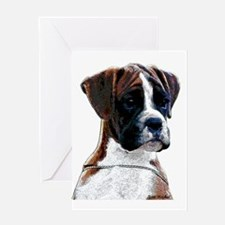 Brindle Boxer Puppy Greeting Card