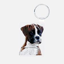 Brindle Boxer Puppy Keychains