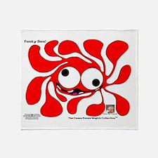 Funky Sun! In Scarlet Throw Blanket