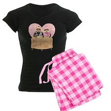 Sock Monkey Boy Girl Love Pajamas