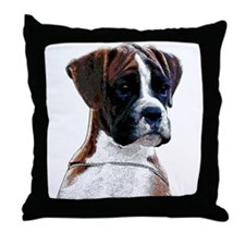 Brindle Boxer Puppy Throw Pillow