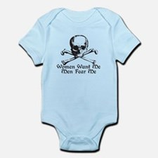Women Want Me Men Fear Me Infant Bodysuit