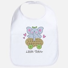 Elephant Little Sister Bib