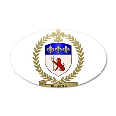 BRIDEAU Family Crest 38.5 x 24.5 Oval Wall Peel