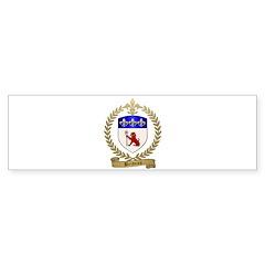 BRIDEAU Family Crest Bumper Sticker