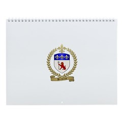 BRIDEAU Family Crest Wall Calendar