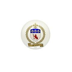 BRIDEAU Family Crest Mini Button