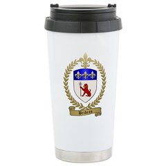 BRIDEAU Family Crest Travel Mug