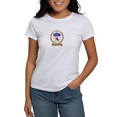 BRIDEAU Family Crest Women's T-Shirt